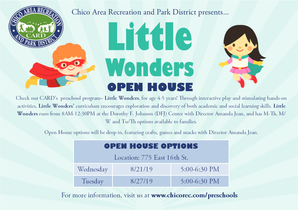 Little Wonders Open House information
