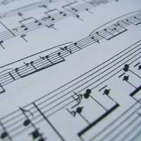 May contain: sheet music