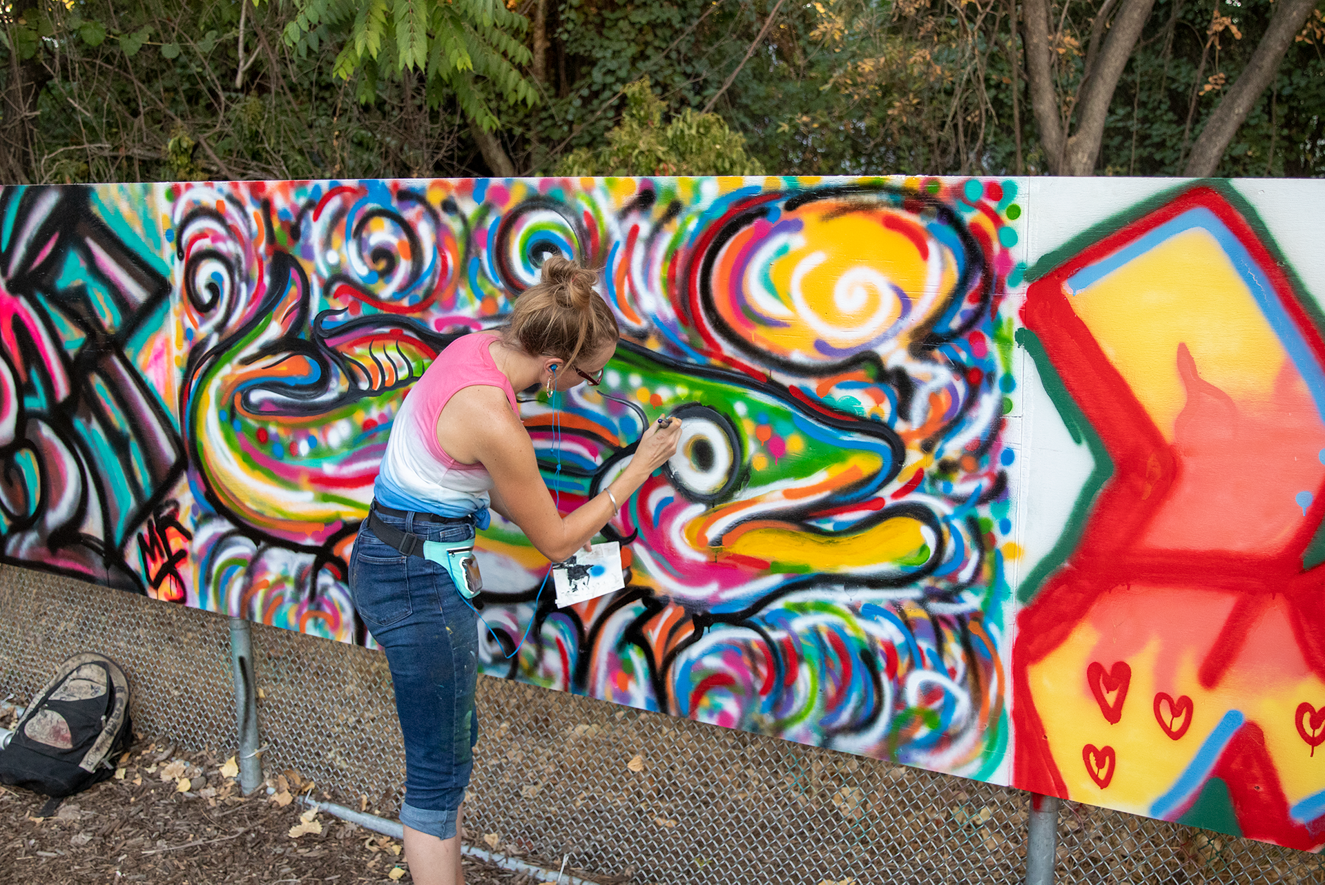May contain: person, human, art, mural, painting, and graffiti