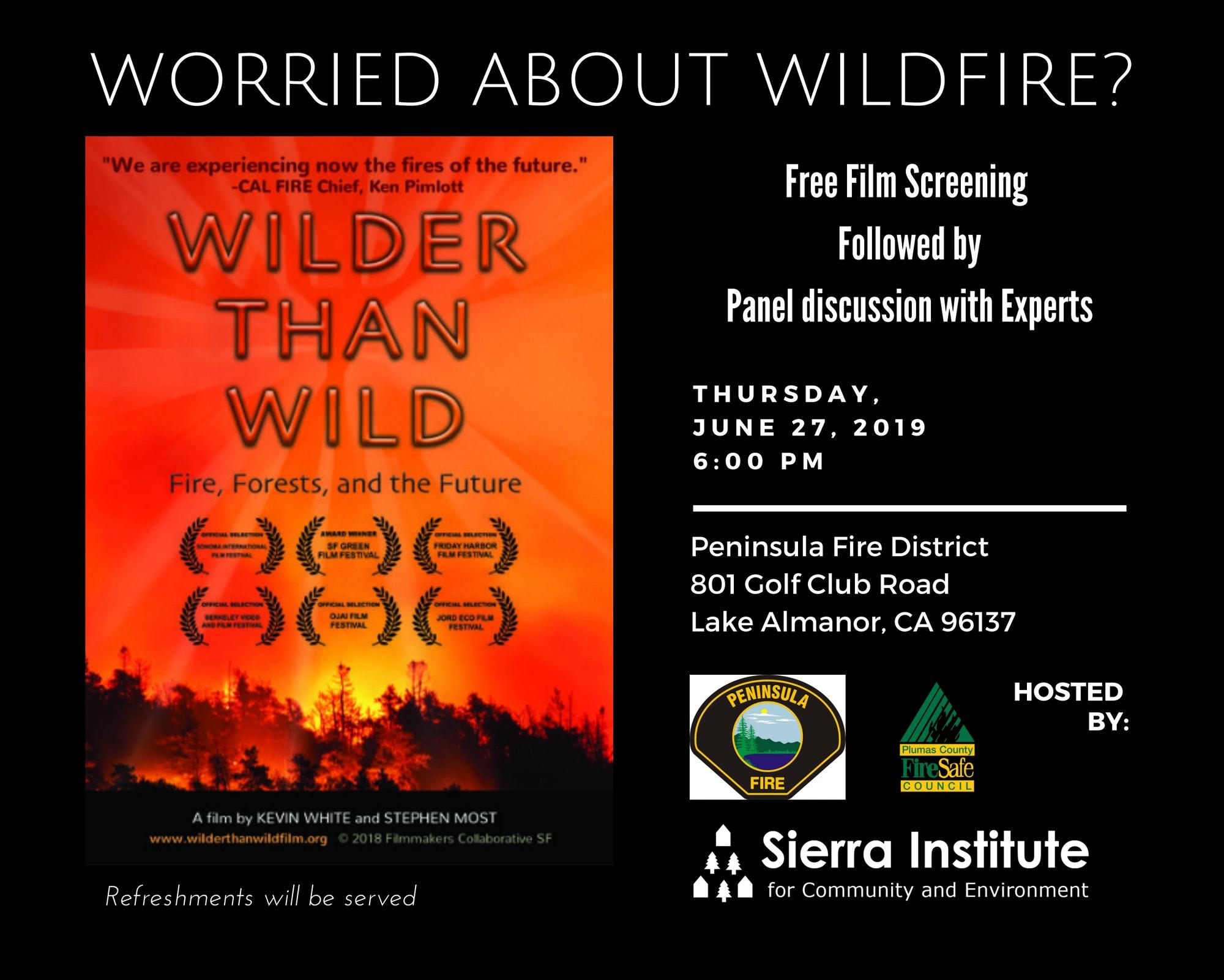 Movie Wilder than Wild shown at Peninsula Fire District June 27 Station 2