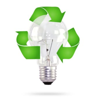 May contain: light, lamp, recycling symbol, and symbol
