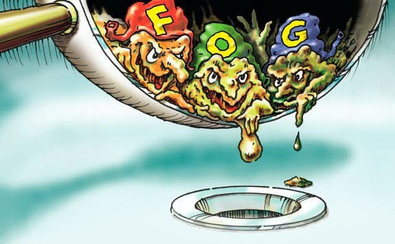 fats, oils and grease in pan cartoon