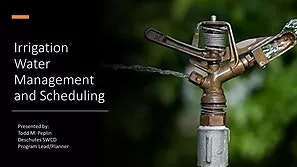 Irrigation Water Management and Scheduling Link