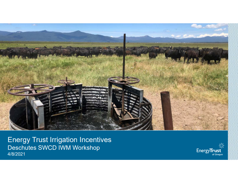 Energy Trust Irrigation Incentives Link