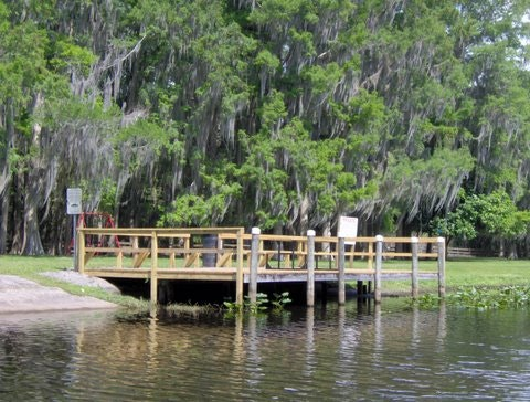 Arbuckle Creek Park has a dock and boat ramp for Spring Lake residents