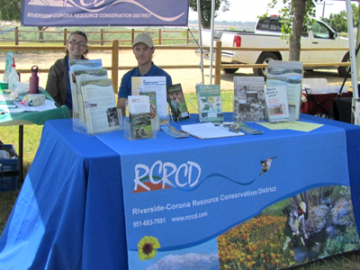 RCRCD booth set up at outreach event.