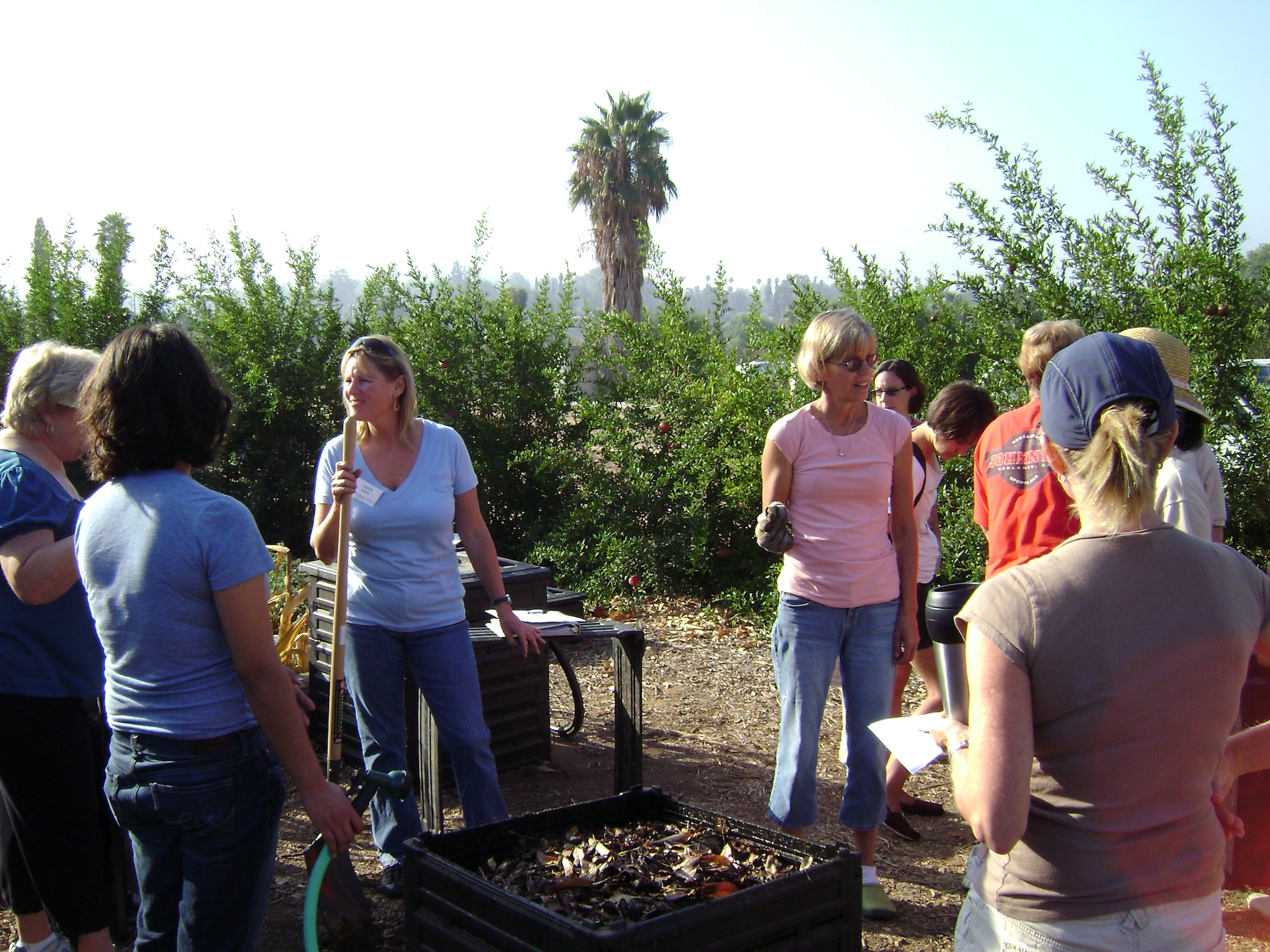Picture of people attending a composting class at the Landuse Learning Center