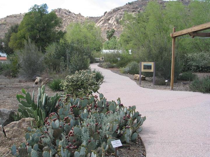 Native habitat trail at LandUse Learning Center