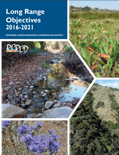 Cover of RCRCD's Long Range Objectives publication.