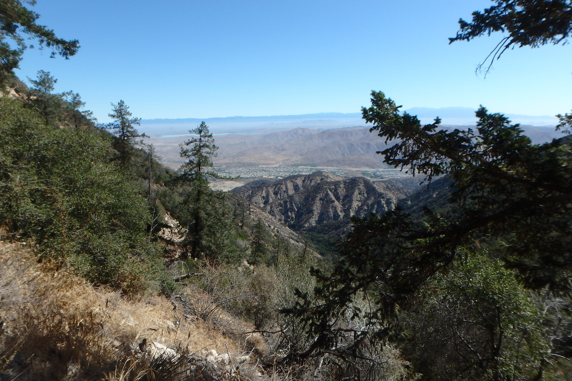 View from a mountain over a valley.