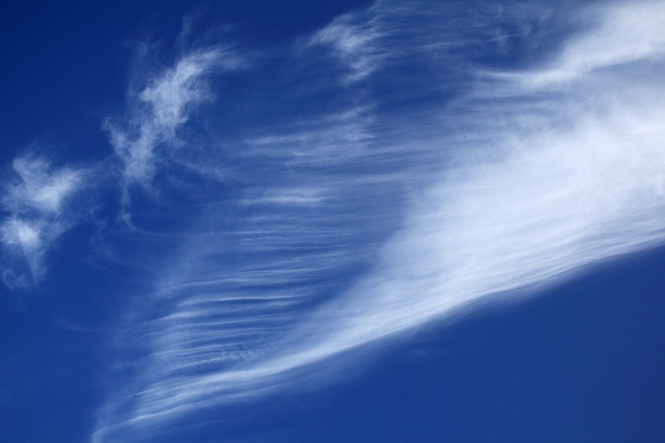 Picture of blue sky with clouds