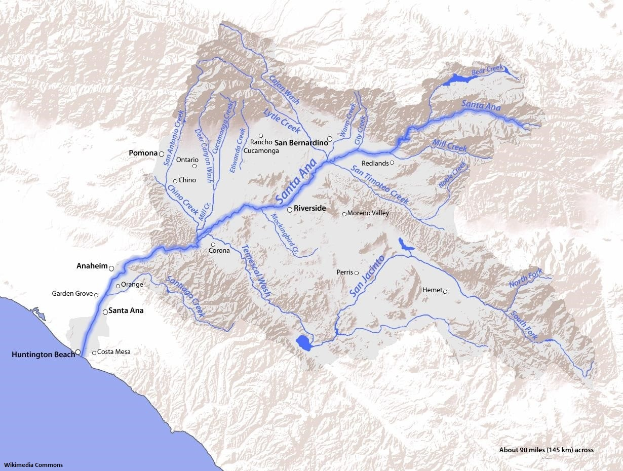 Map of Santa Ana River Watershed