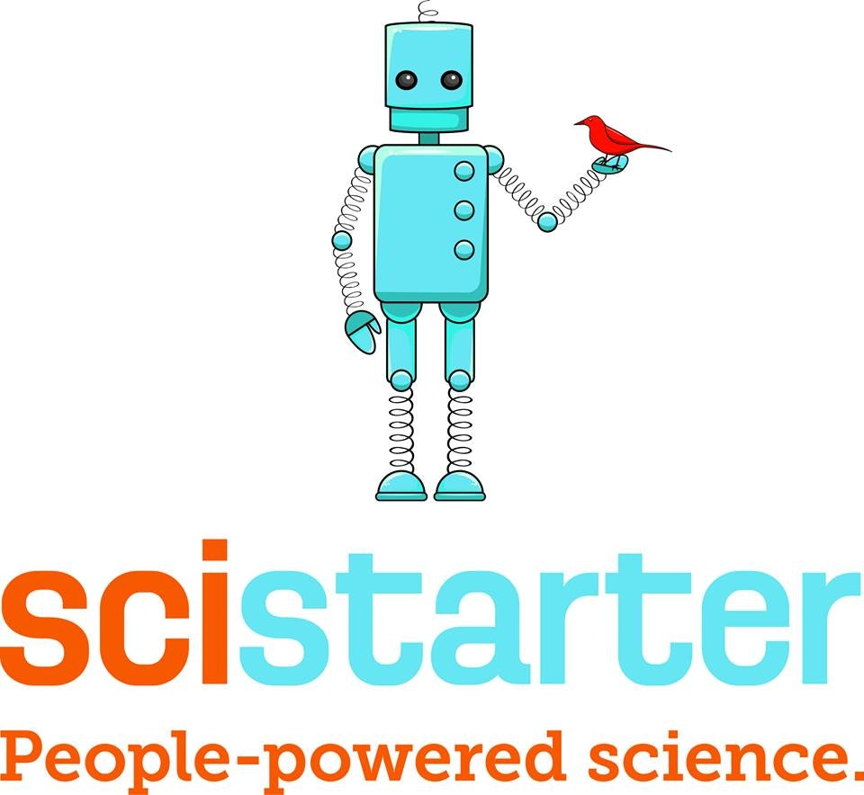 Scistarter logo with robot