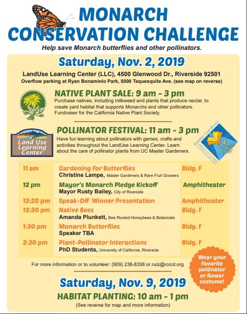 Flyer about Pollinator Festival and Plant Sale