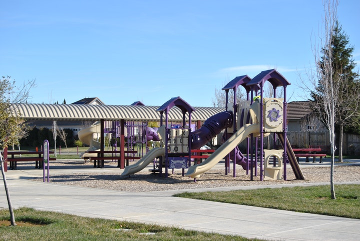 playground and play area