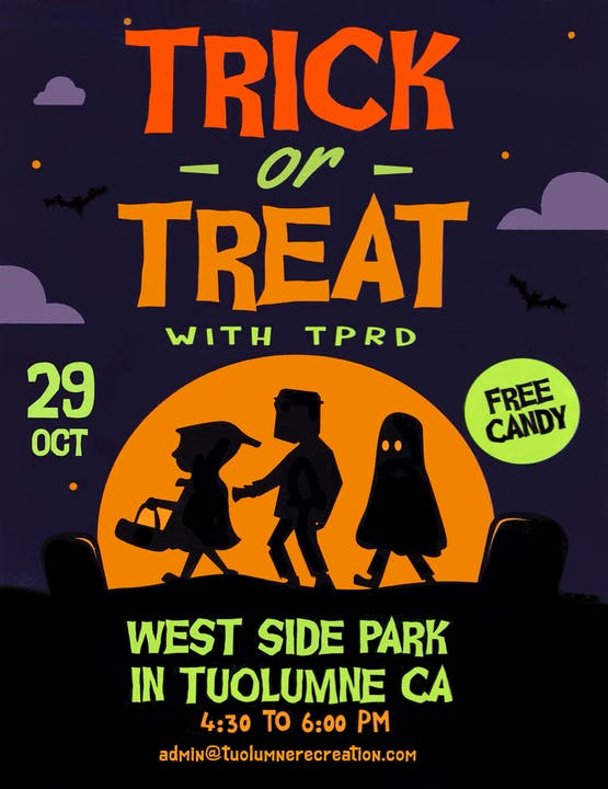 Halloween Event Flyer, Friday, 10/29/21, 4:30-6:00 p.m. at Westside Park