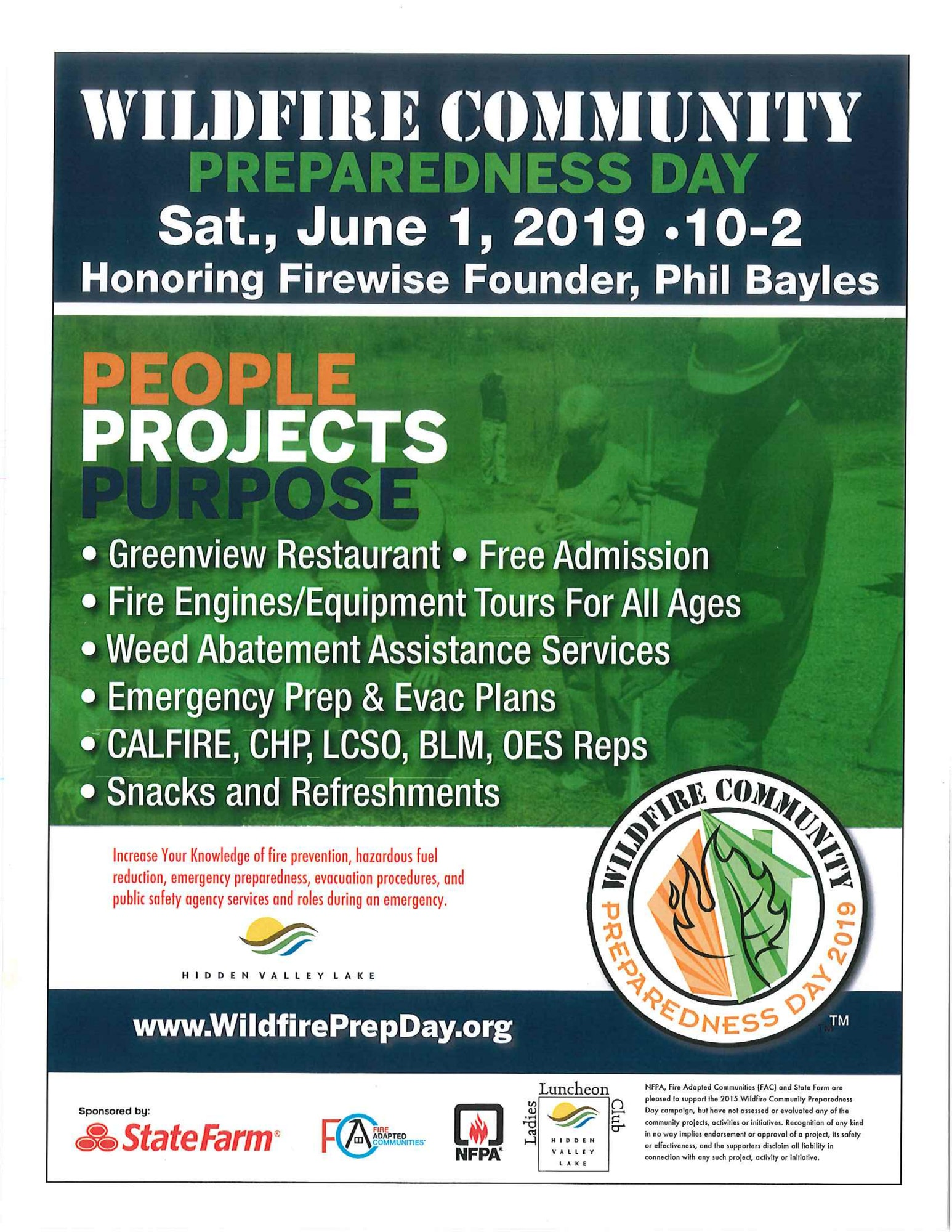 Wildfire Community Preparedness Day Sat June 1st 2019