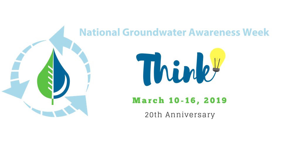 National Groundwater Awaerness Week, Think March 10-16, 2019