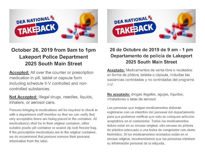 National Drug Take-Back Day