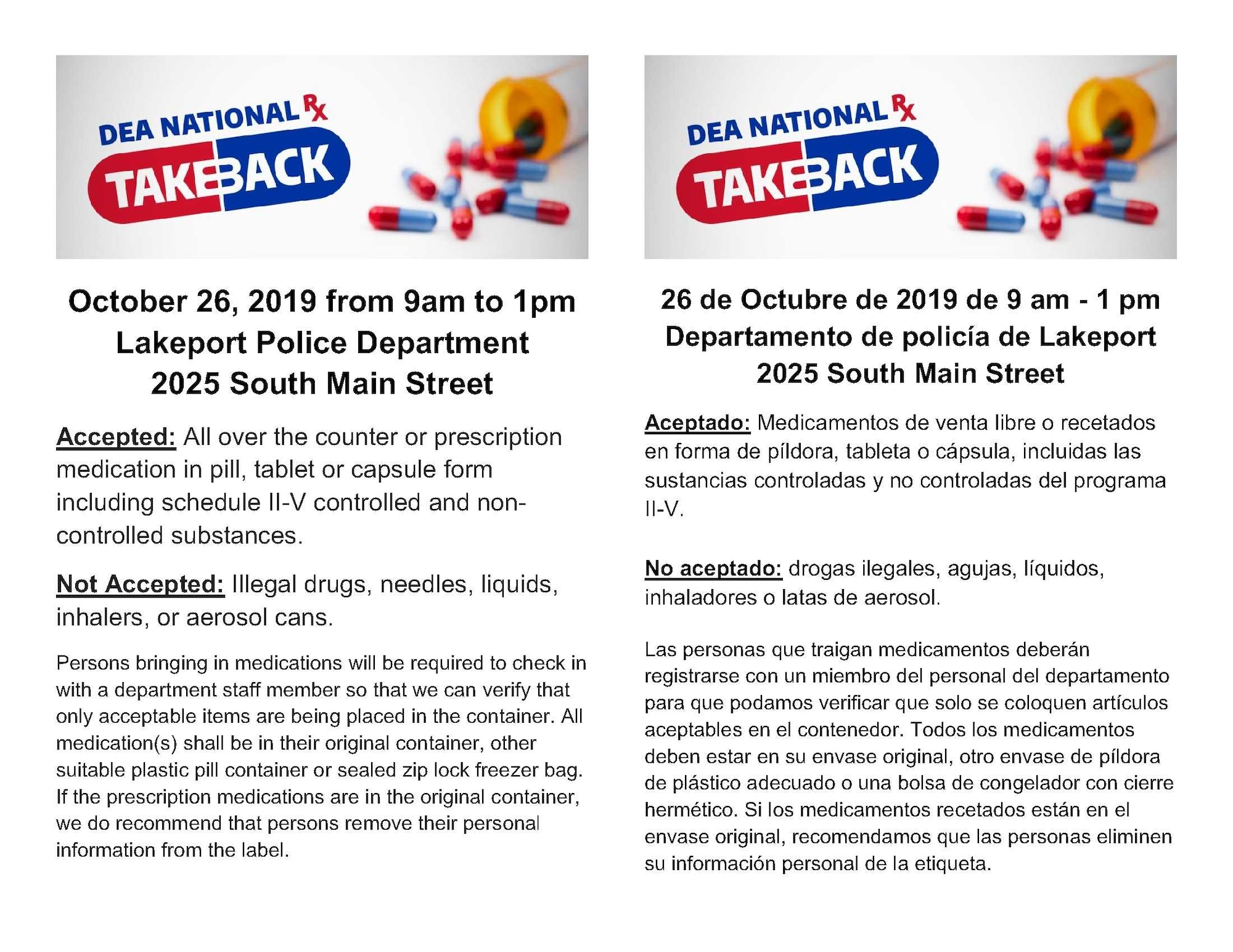 National Drug Take-Back Day