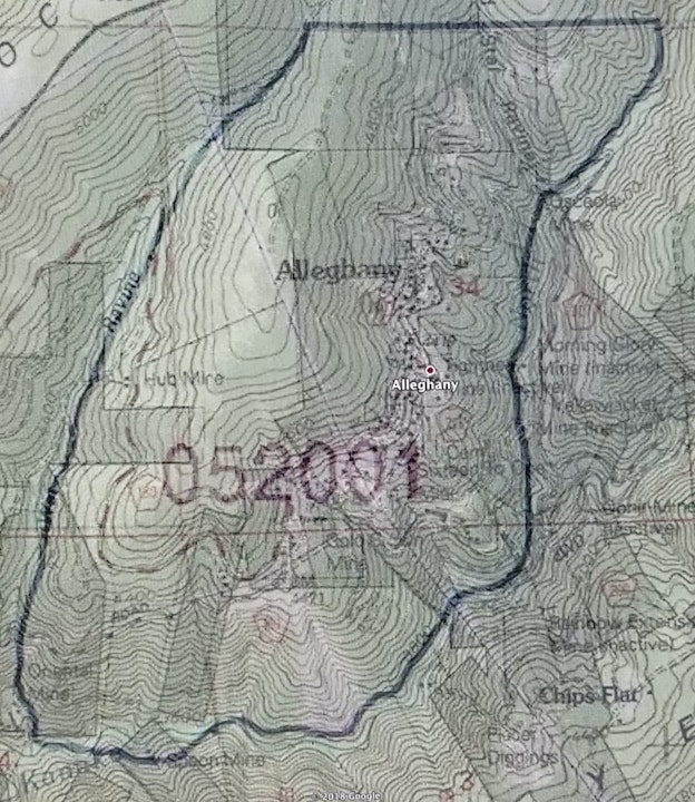 District boundary map wet ravine west side, Kanaka creek East and South
