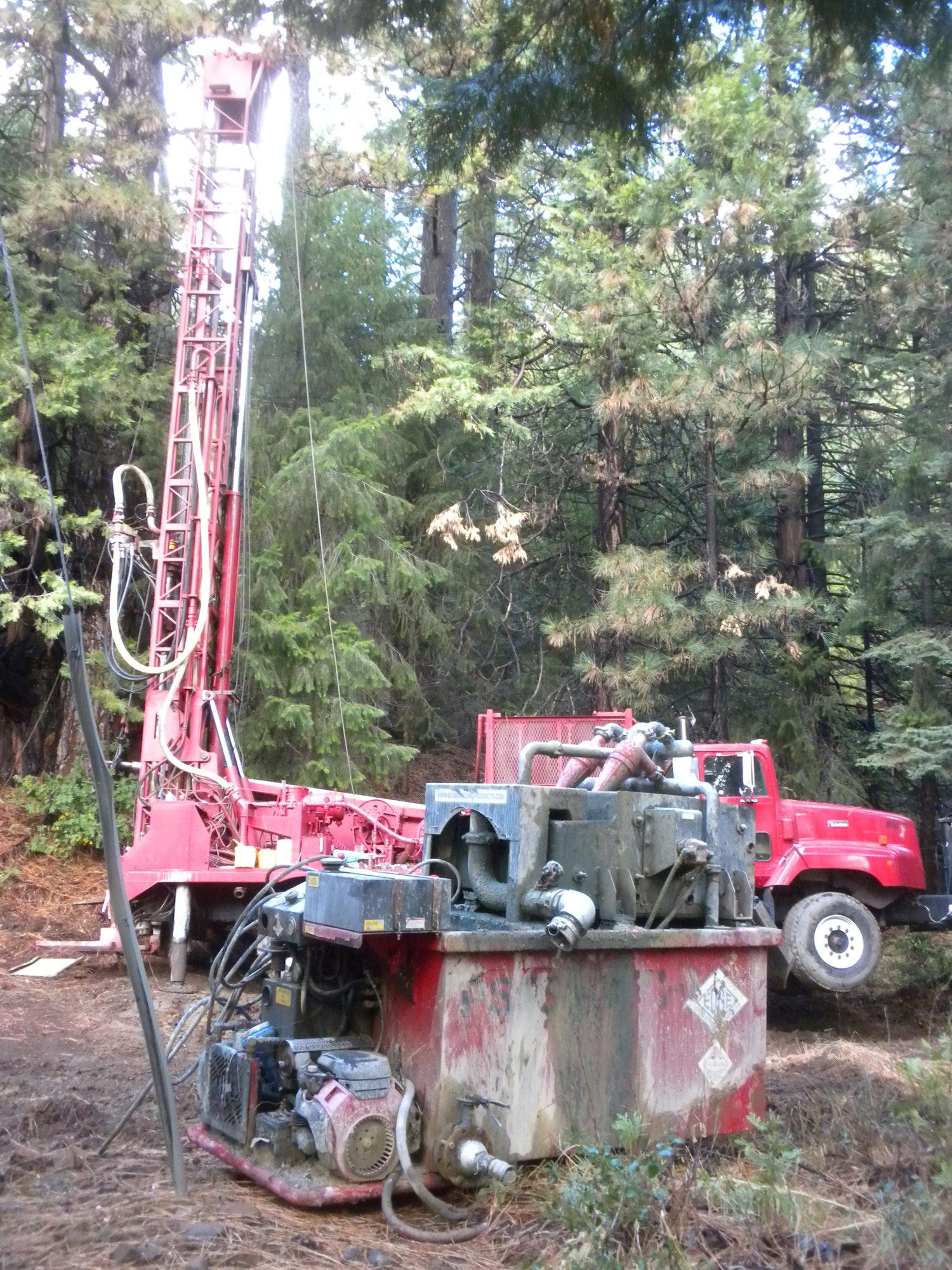 Test hole being drilled at the Cumberland Spring property Oct. 2016
