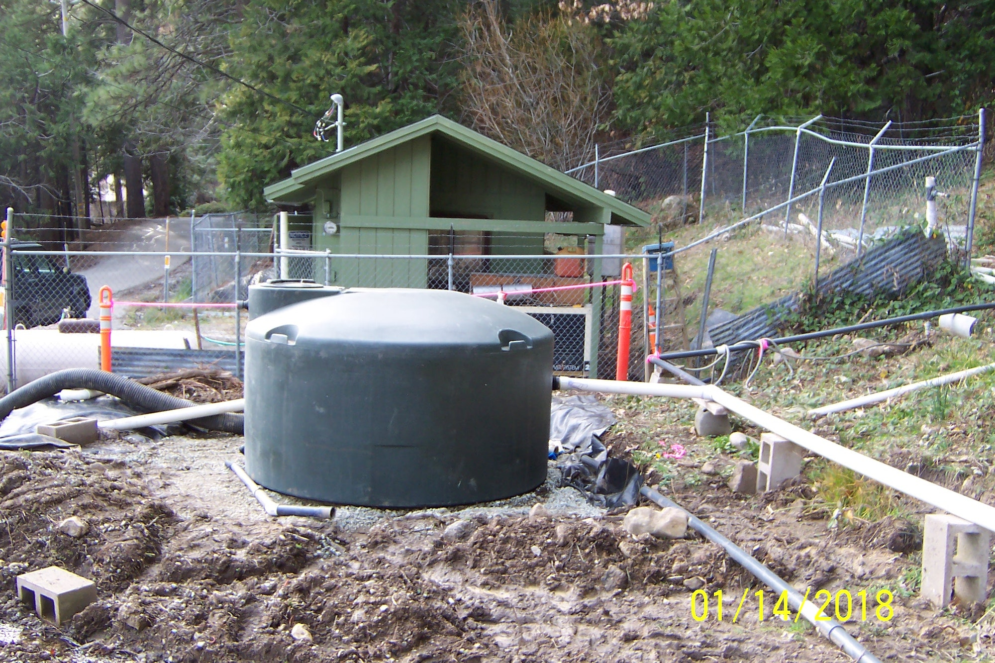 sump relacement tank prior to being plumbed in.