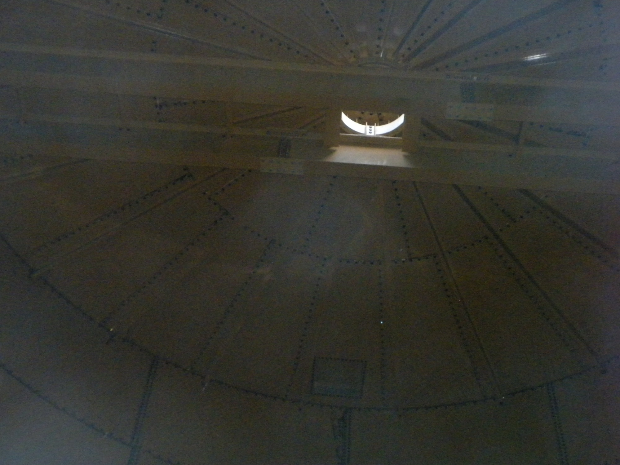 Nov. 7, 2018 looking up from inside the access hole.