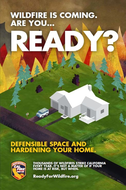 Wildfire is coming are you ready brochure image