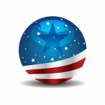 Red White and Blue Paygov.us sphere