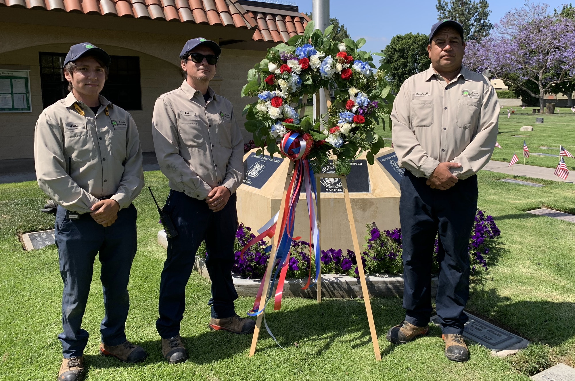 Groundskeepers (Left to Right): Jose, Eddie, and David