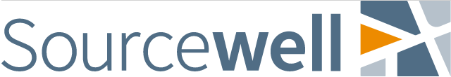 Puzzle piece-like logo of Sourcewell