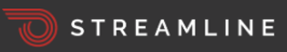 Streamline curved-into-a-ball railroad track logo