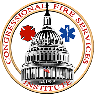 Congressional Fire Services Institute Logo with US Capitol dome, Maltese cross, and star of life
