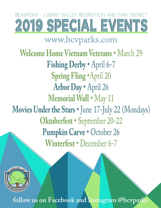 List of Special Events for the Year