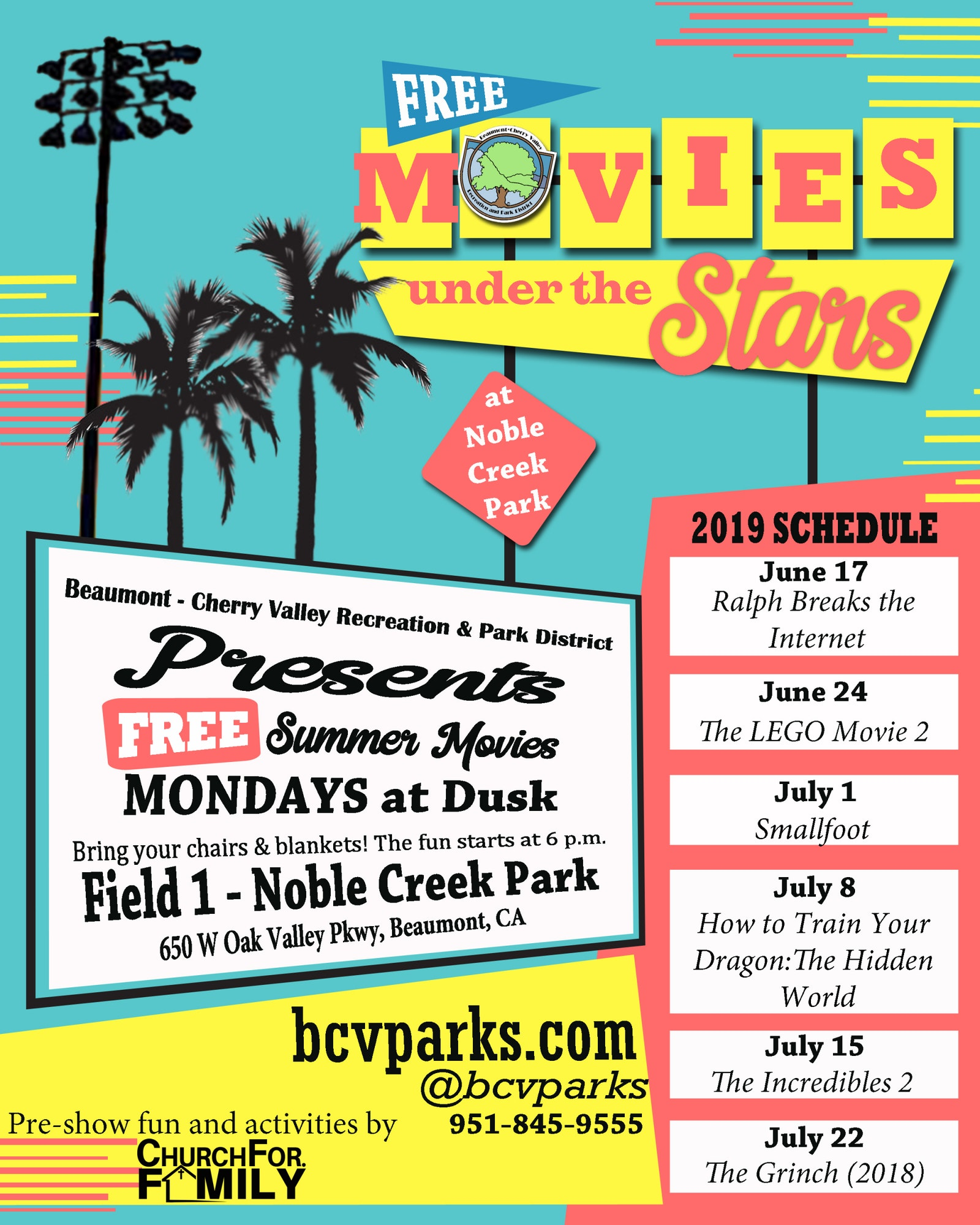 Movies Under the Stars - Beaumont-Cherry Valley Recreation