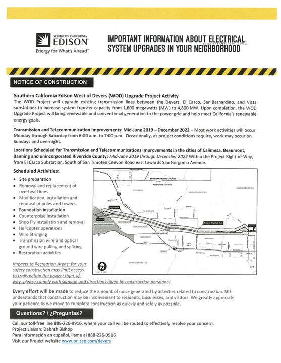 Notice of Construction