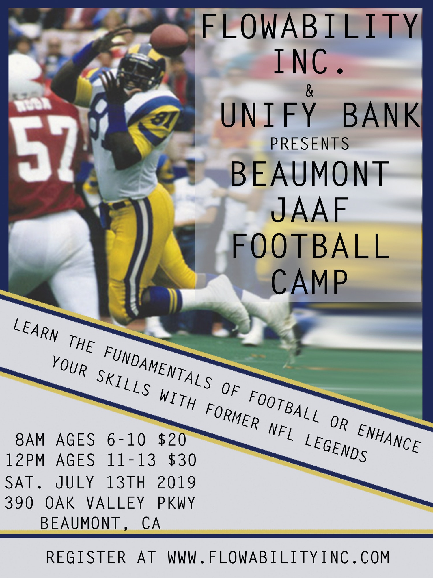 Flyer for Football Camp