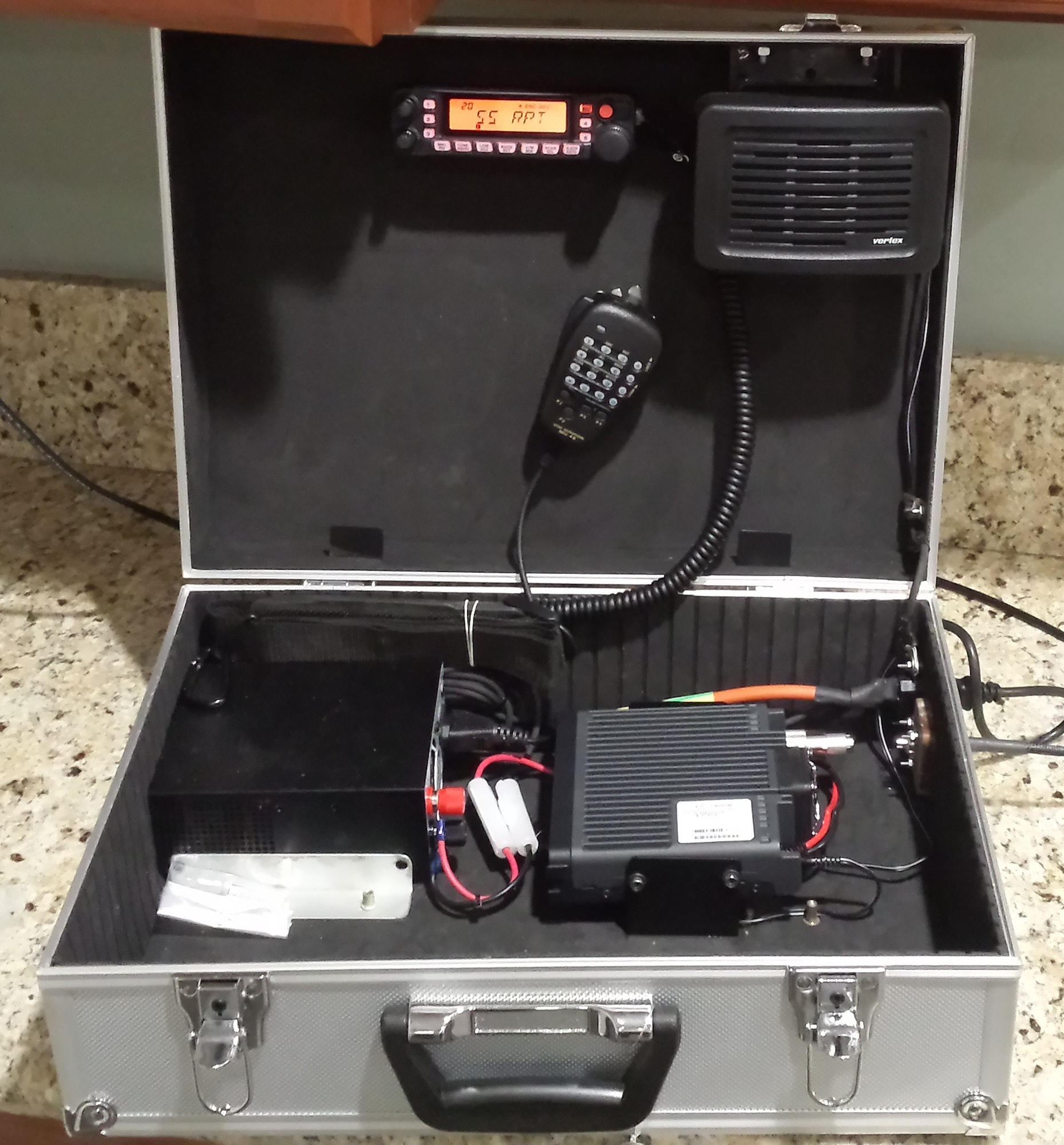 """Master Craftsman & CERT leader Dave Cox invented & created this """"Radio in a Box"""" which can be used during emergency incidents in the EOC or elsewhere."""