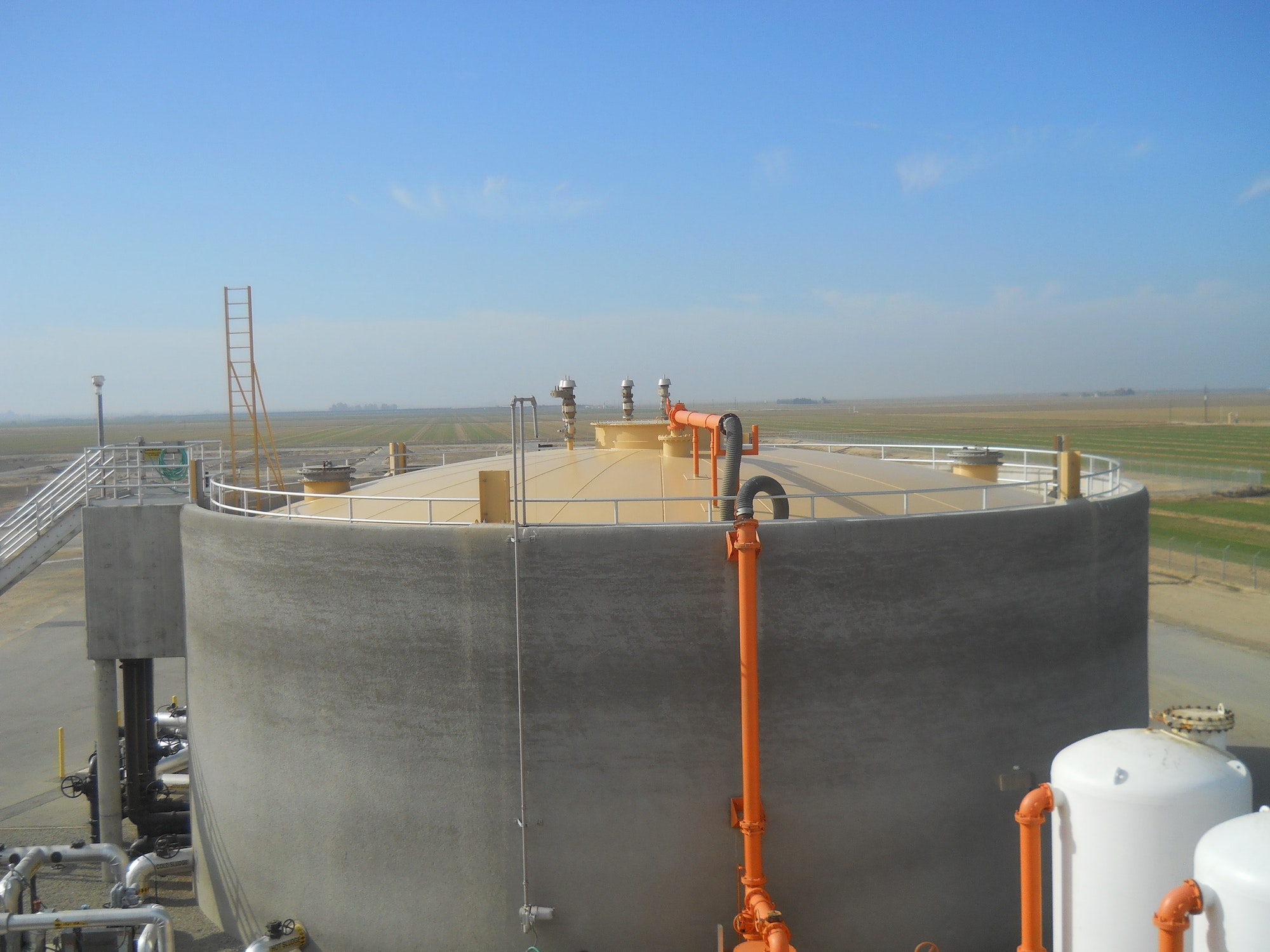 Painting the Digester Dome