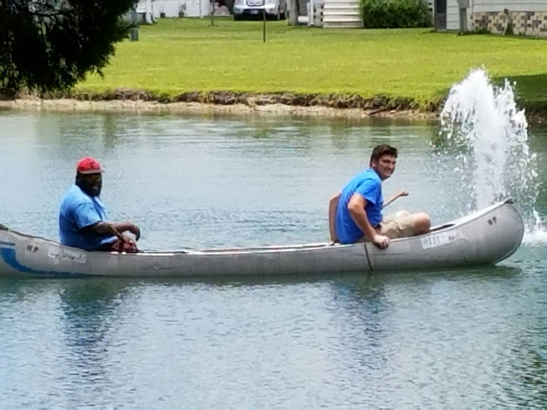 May contain: person, human, transportation, rowboat, boat, vehicle, and canoe