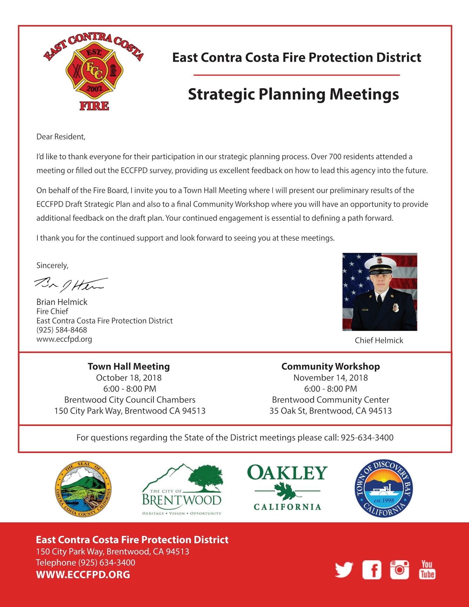 ECCFPD Strategic Planning - East Contra Costa Fire