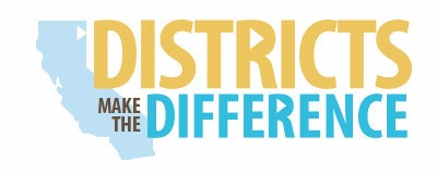 Districts Make a Difference Logo with Light Blue State of California