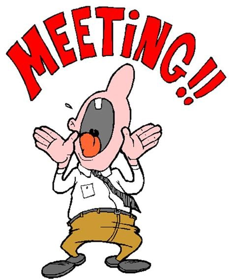 Cartoon shouting MEETING!!
