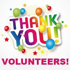 THANK YOU VOLUNTEERS!