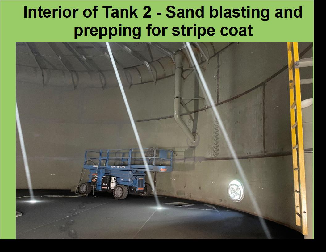 Tank 2: Interior Sand blasting_ black sand on the floor