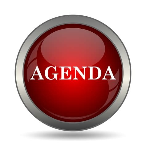 Red button with AGENDA Text