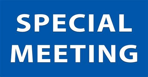 Test SPECIAL MEETING