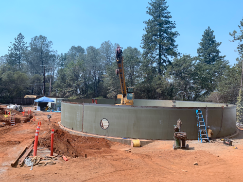 CVPCSD Water Tank Project Construction Site Progression 2020