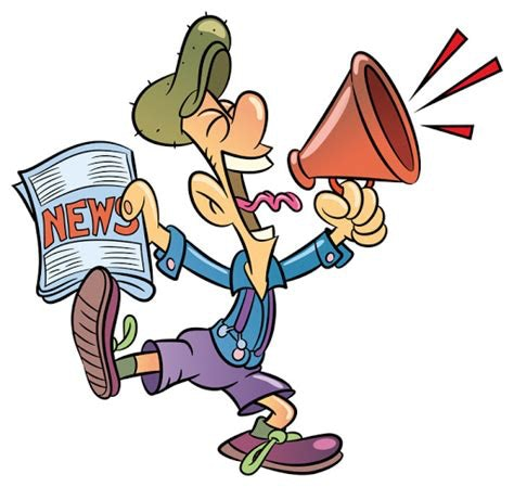 News Cartoon with Megaphone